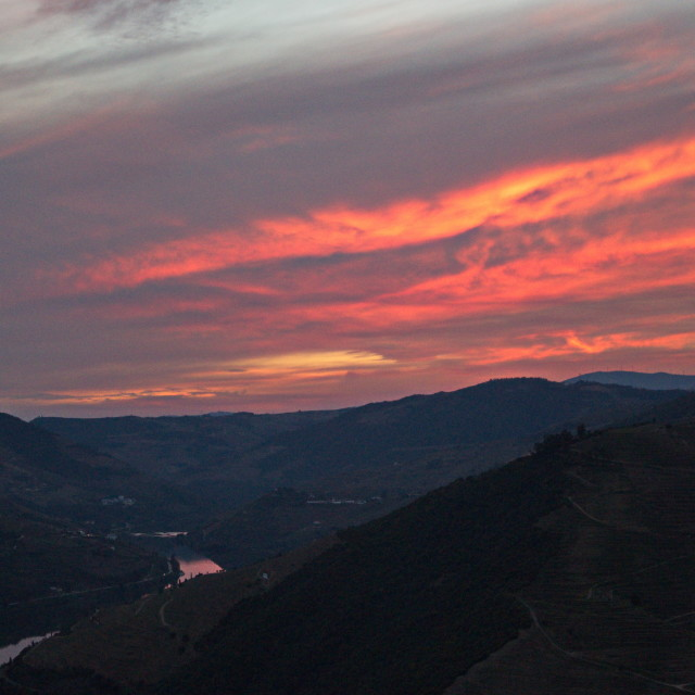 """Sunset in Douro Valley"" stock image"