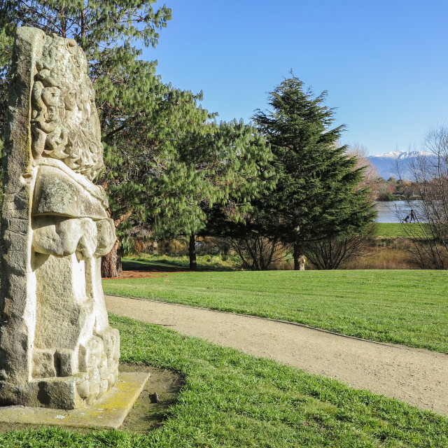 """""""park sculpture"""" stock image"""