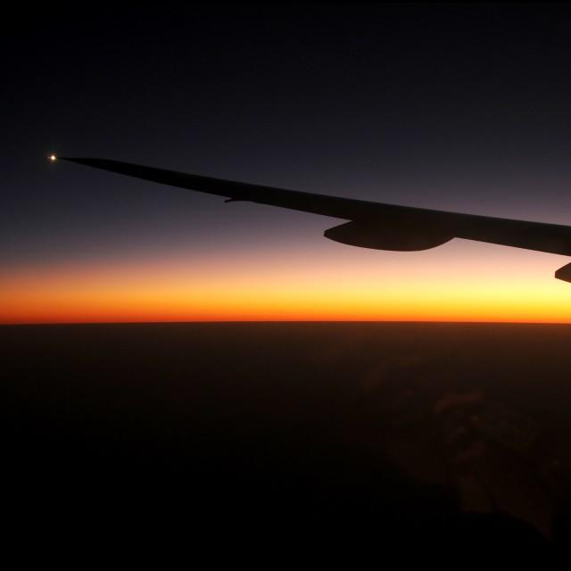 """The Night Flight"" stock image"