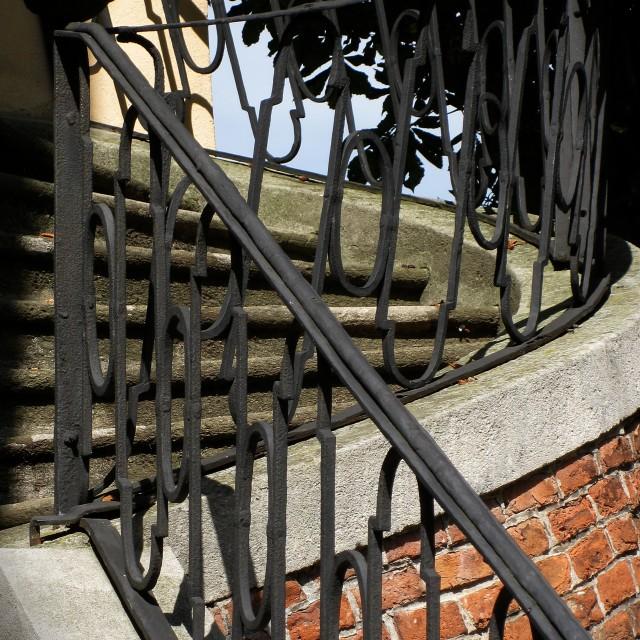 """""""The Balustrade in Mikulov Castle"""" stock image"""