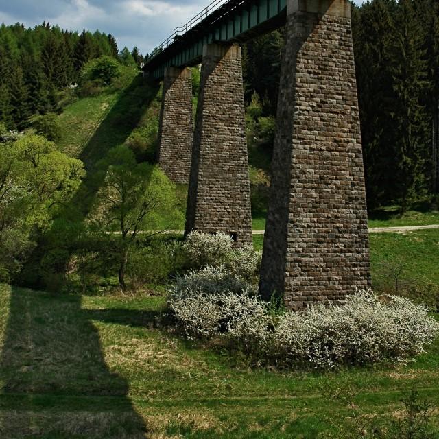 """The Slovak Bridge"" stock image"