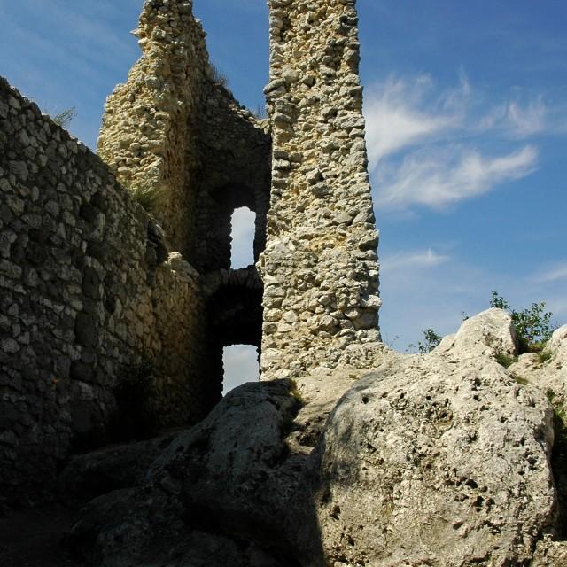 """the Ruin of Sirotci Hradek Castle"" stock image"