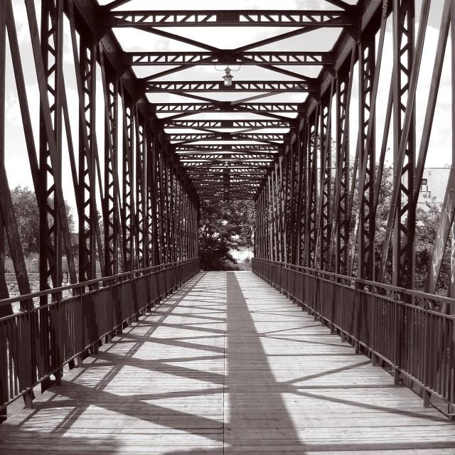 """""""The Bridge in Breclav"""" stock image"""