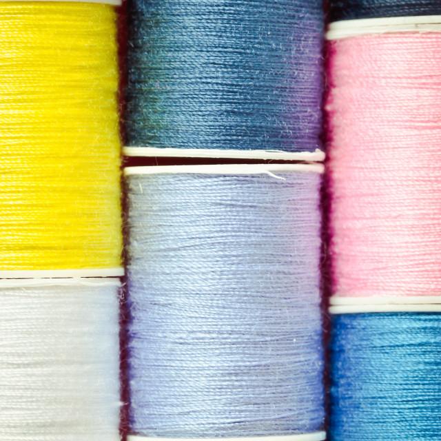 """Cotton reels"" stock image"