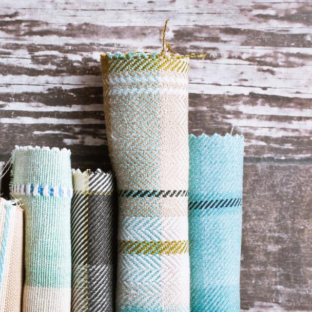 """Tartan fabrics"" stock image"