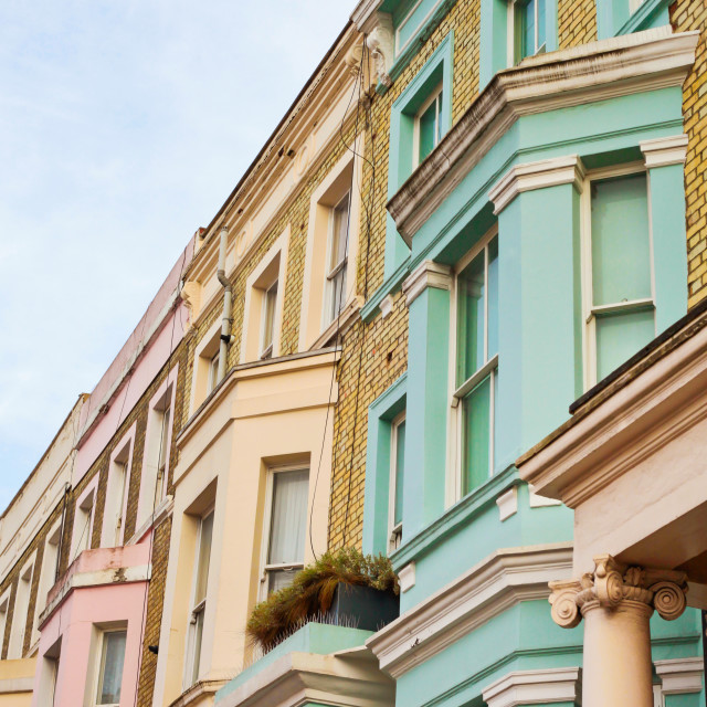 """London houses"" stock image"