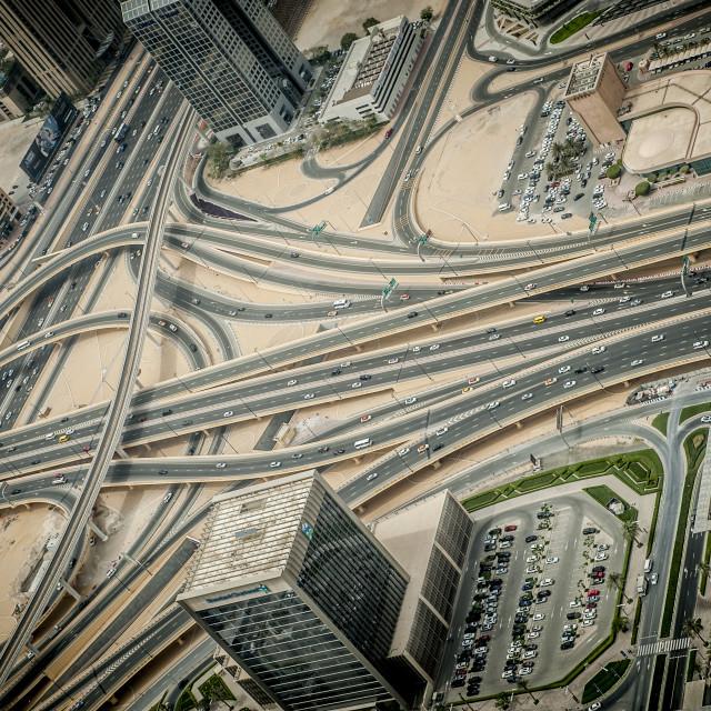 """Crossroad in Dubai"" stock image"
