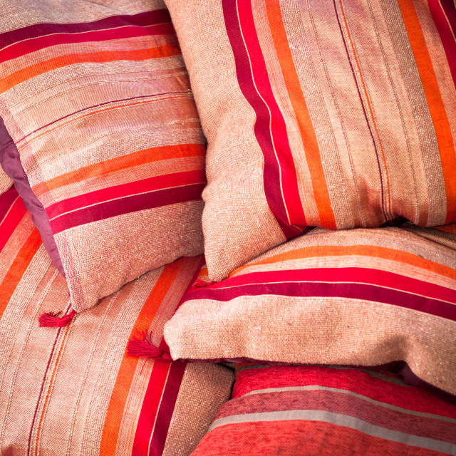 """Moroccan cushions"" stock image"