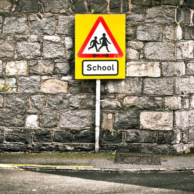 """School sign"" stock image"