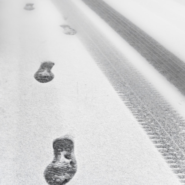 """Footprints"" stock image"