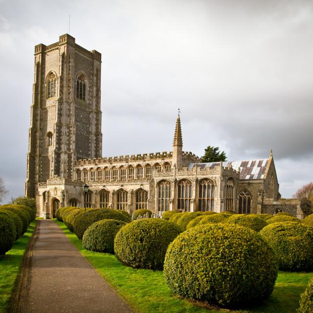 """Lavenham church"" stock image"