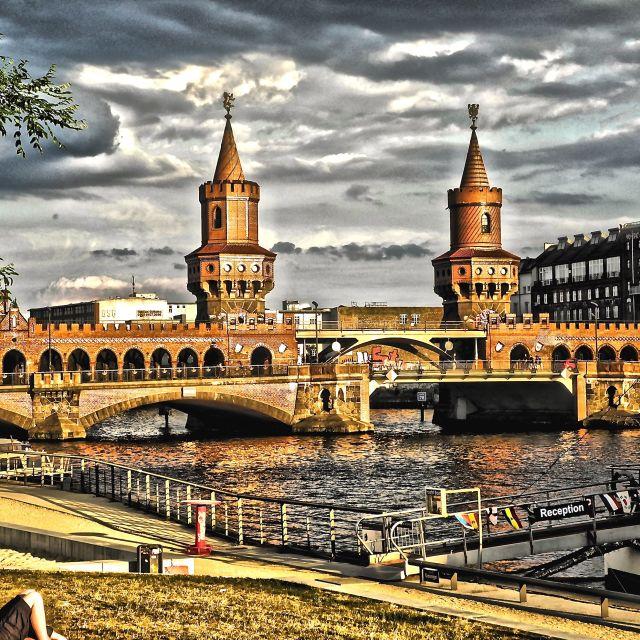 """""""Ponte sullo Sprea a Berlino"""" stock image"""