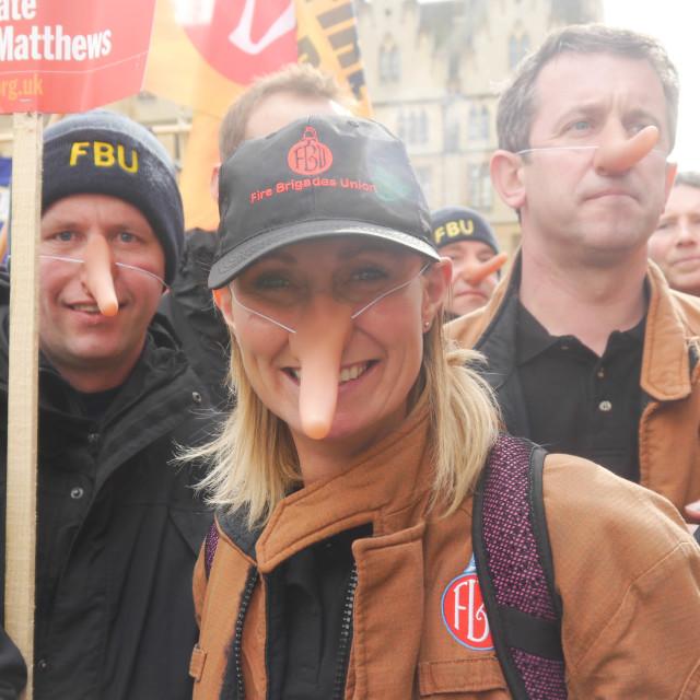 """Fire brigade union"" stock image"