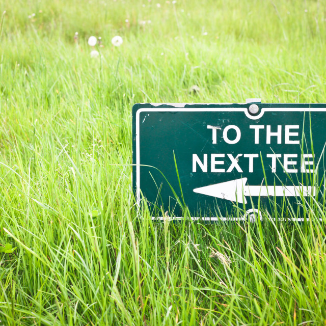 """Tee sign"" stock image"