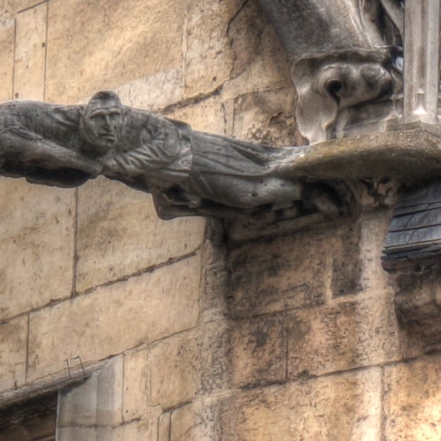"""Monk Gargoyle in Paris"" stock image"