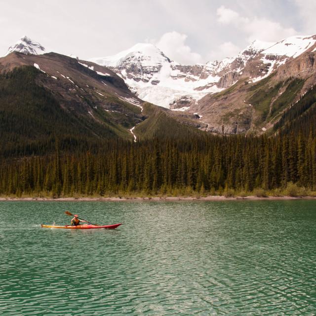 """""""Maligne Lake Canada"""" stock image"""