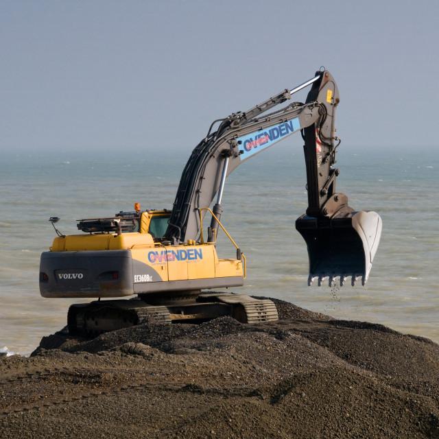 """Volvo EC360B Crawler Excavator"" stock image"