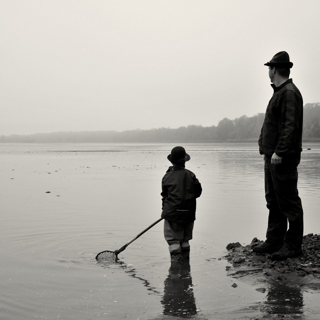 """""""Fishing Out 1"""" stock image"""