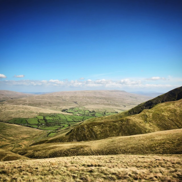 """Looking down from ""Cautley Spout"""" stock image"