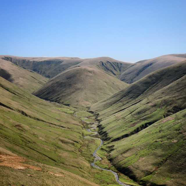 """Langdale Valley in the Howgills, Cumbria"" stock image"