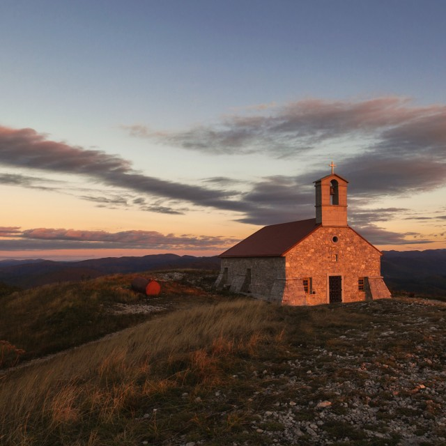 """Church on the mountain"" stock image"