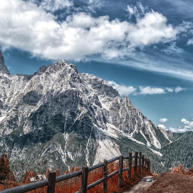 """Red Croda, Val di Susa, Italy"" stock image"
