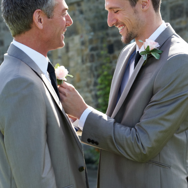 """""""Best Man And Groom At Wedding"""" stock image"""