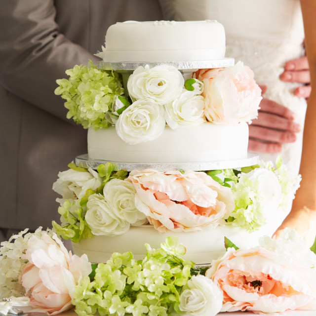 """Close Up Of Beautiful Wedding Cake"" stock image"