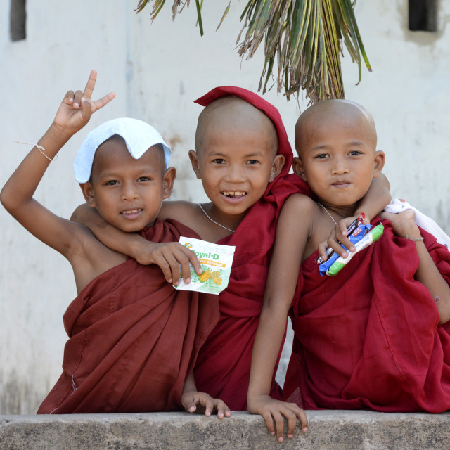 """ASIA MYANMAR BURMA MYEIK MONK"" stock image"