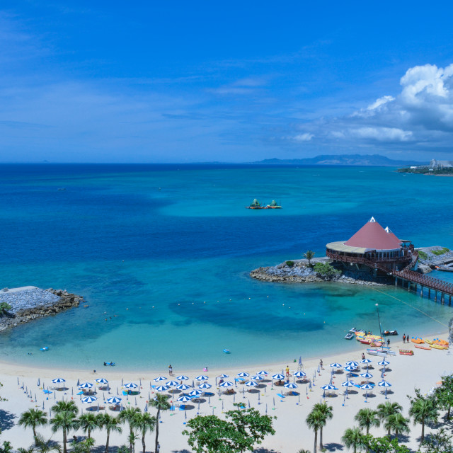"""""""Beach in Okinawa"""" stock image"""