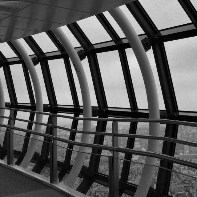 """""""Tokyo Skytree viewing deck"""" stock image"""