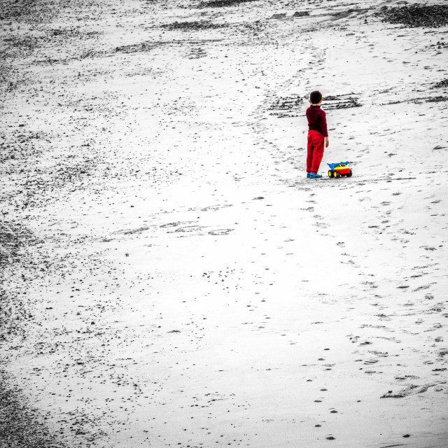 """Alone on the beach"" stock image"
