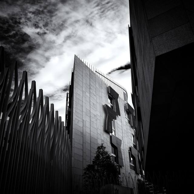 """Scottish Parliament Building, Edinburgh"" stock image"