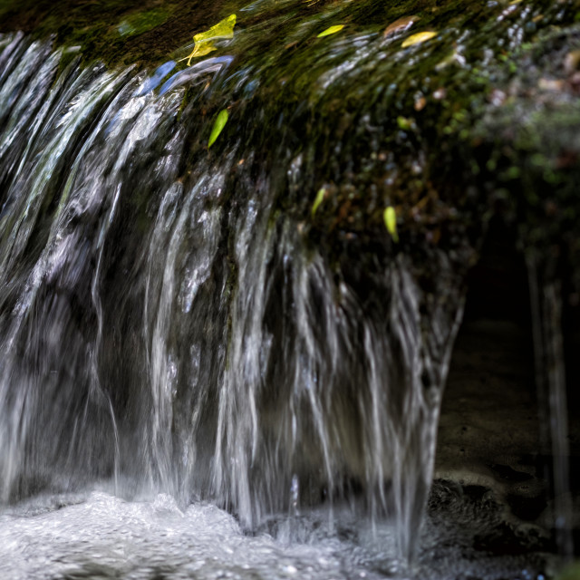"""Waterfall in Thornton Glen"" stock image"