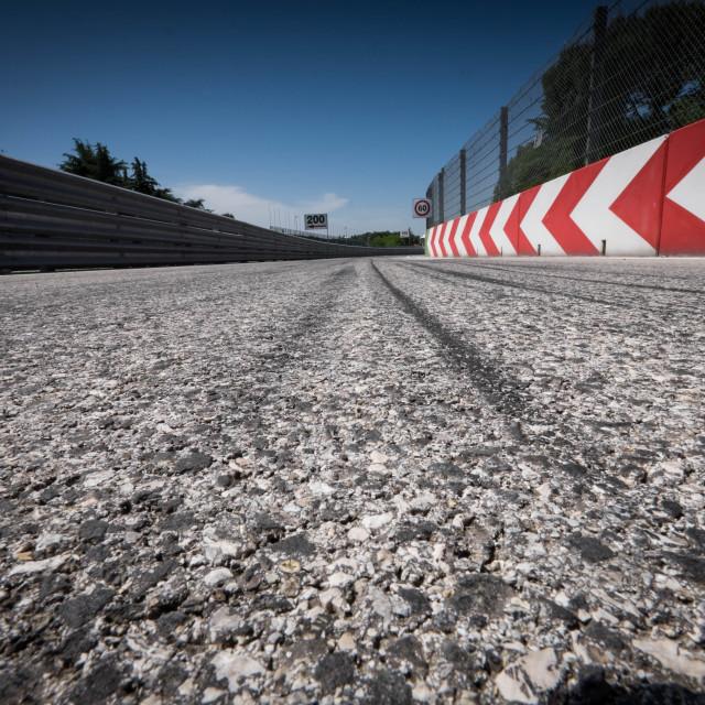 """""""Autodromo Internazionale Enzo e Dino Ferrari di Imola"""" stock image"""