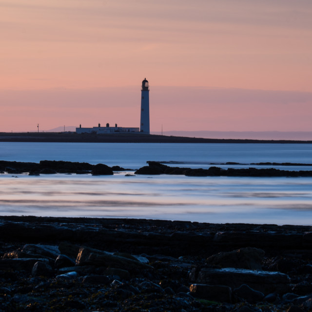 """Barns Ness Lighthouse"" stock image"