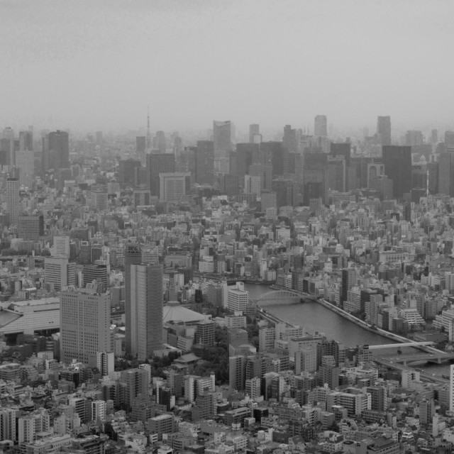 """Aerial view of Tokyo from the Skytree"" stock image"