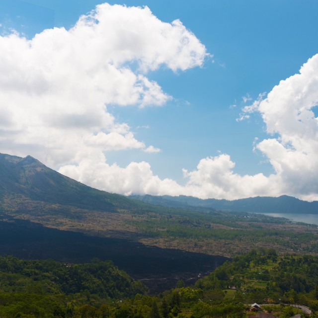 """Overview of Lake Batur in Bali"" stock image"