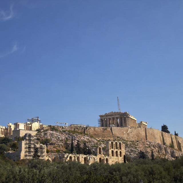 """""""Parthenon, Acropolis of Athens, Greece"""" stock image"""