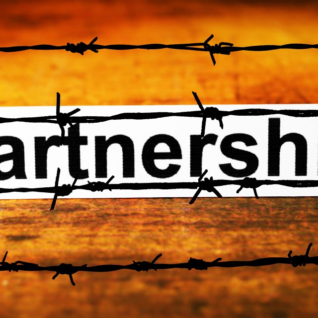 """No Partnership concept"" stock image"