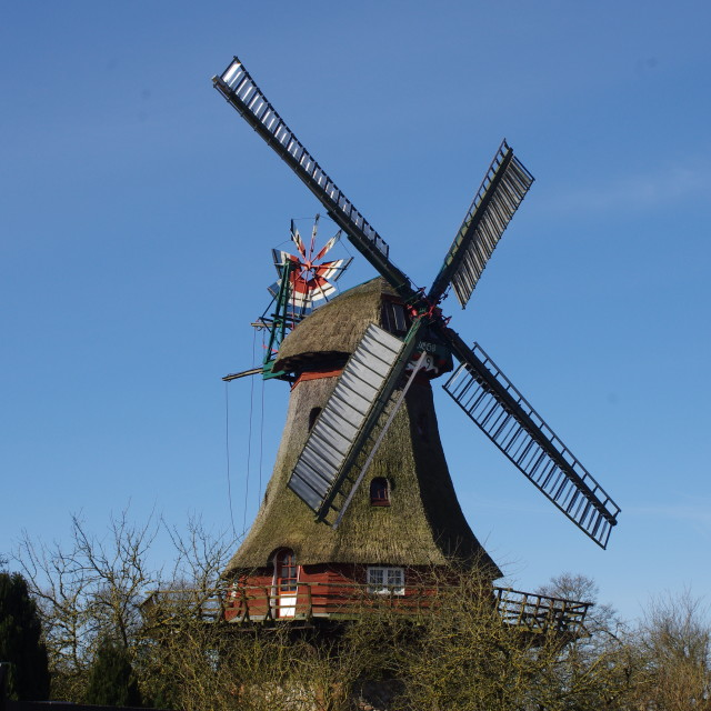 """Thatched Windmill"" stock image"
