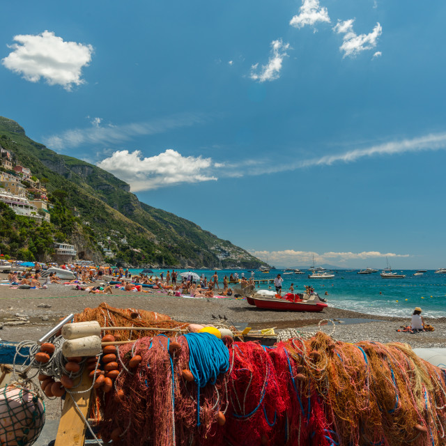 """Fishing Tackle in Positano"" stock image"