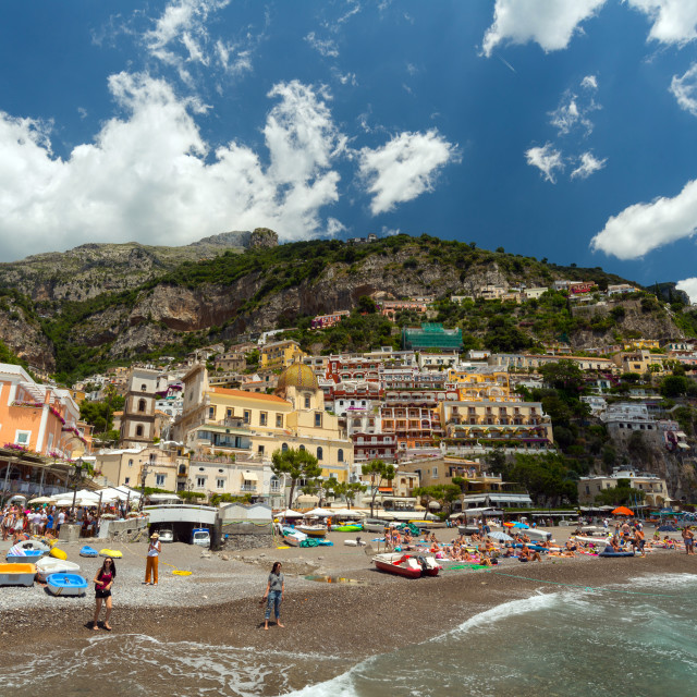 """""""Positano from the port"""" stock image"""