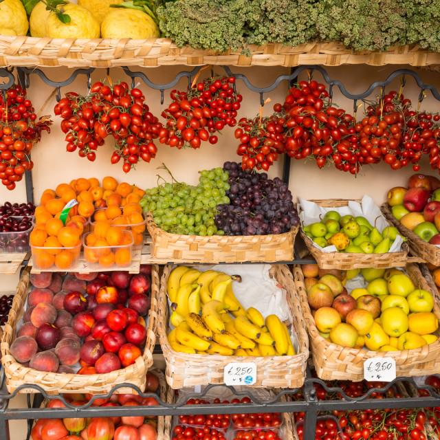 """Positano fruits"" stock image"