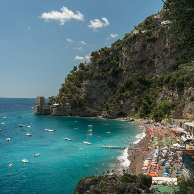 """""""Positano Spiaggia Fornilla beach"""" stock image"""