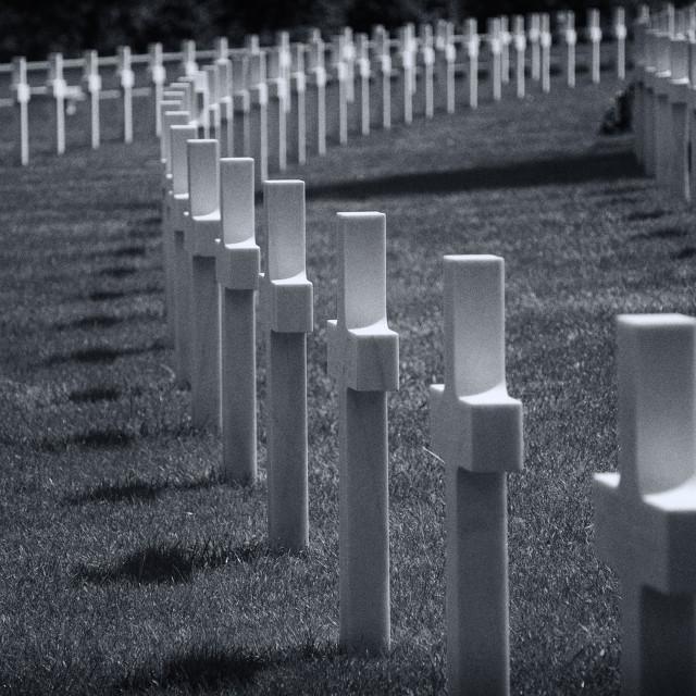 """American Cemetery"" stock image"