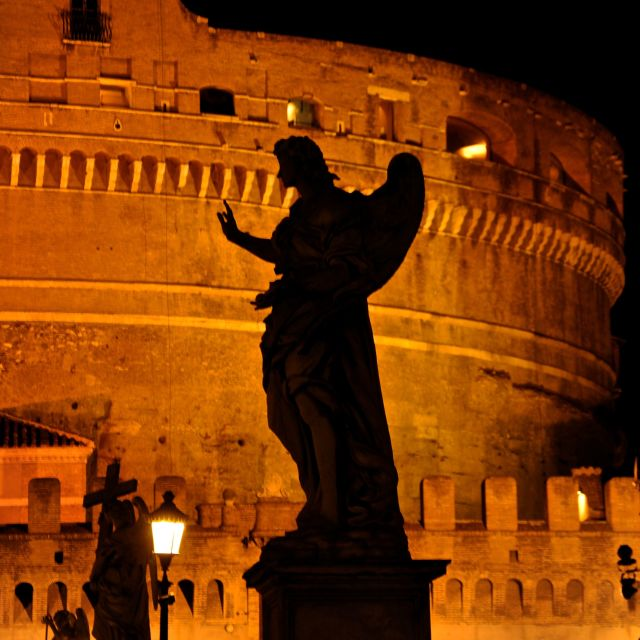 """Un angelo a Castel S.Angelo"" stock image"