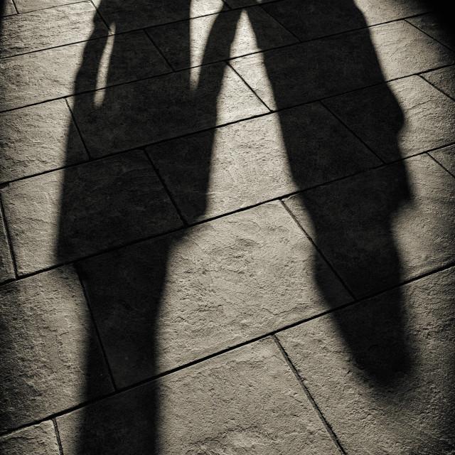 """Pavement shadows"" stock image"