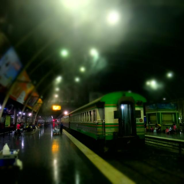 """Bangkok train station"" stock image"