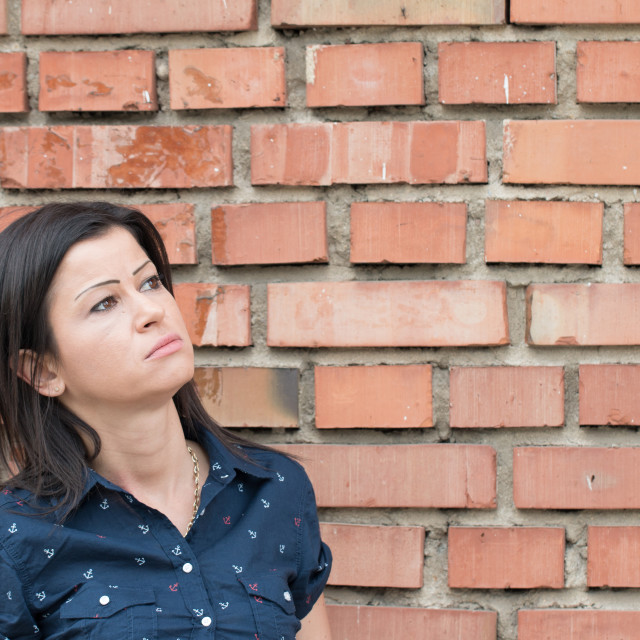 """""""Young Woman Looking Sad Or Depressed"""" stock image"""